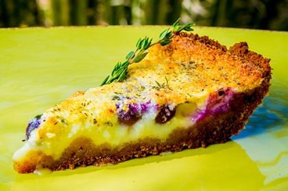 Blueberry-Thyme Buttermilk Pie